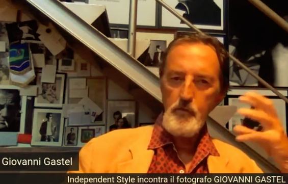 Giovanni Gastel in una delle ultime interviste concesse ad Independent Style by Barolo Fashion Show Cosenza Fashion Week nel 2020